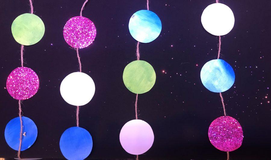 September Happy Birthday Glitter Decorations