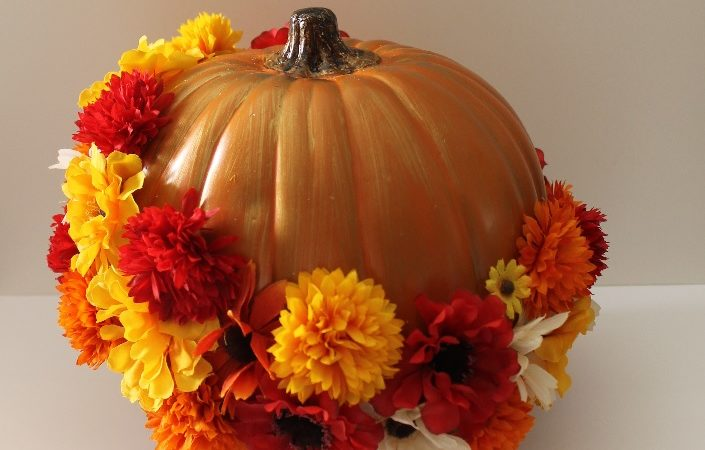 Flower Pumpkin Decor