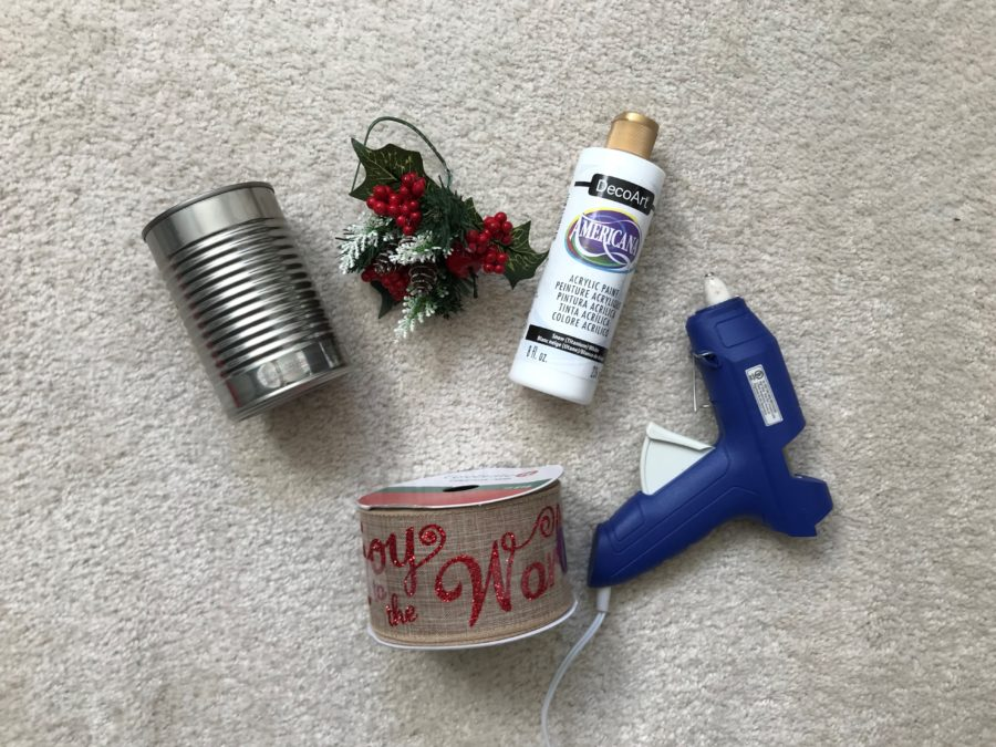 DIY Christmas Can Decoration